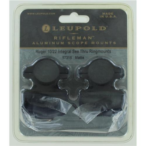 Leupold Rifleman See-Thru Rings Ruger 10/22 Matte Finish IF00024N