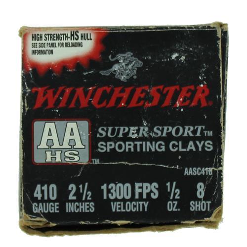 "Winchester AA Super Sport 410 2-1/2"" #8 1/2 oz 25 Rd Box IF037660N"