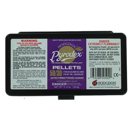 Pyrodex Pellets .50 Caliber 30 Grain 100 Pellets In Plastic Box IF038036N