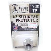 TIMBER CREEK 1/2-28 MUZZLE THREAD PROTECTOR .223 / 5.56 - CERAKOTE SILVER IF010269N
