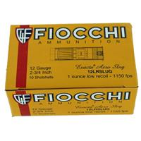 "Fiocchi Self Defense Aero Rifled Slug Low Recoil 12 Gauge Ammunition 10 Rounds 2-3/4"" 1oz Lead 1150fps IF038040N"