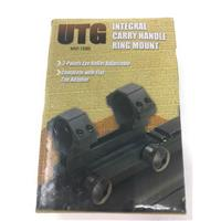 """Leapers UTG 3-Point Mount with 1"""" Weaver-Style Rings AR-15, Flat Top Adapter Included Matte IF07496N"""