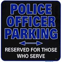Police Officer Parking Sign IF07523N