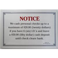 Notice-Check Cashing Procedure IF07526N