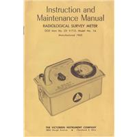 Manual for Radiation Survey Meter OCD Item No. CD V-715, Model No. 1A IF07536N